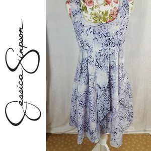 JESSICA SIMPSON Water Color Gracian Panel Dress